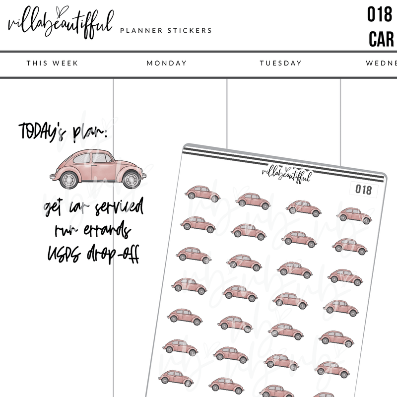 018 Car Planner Stickers