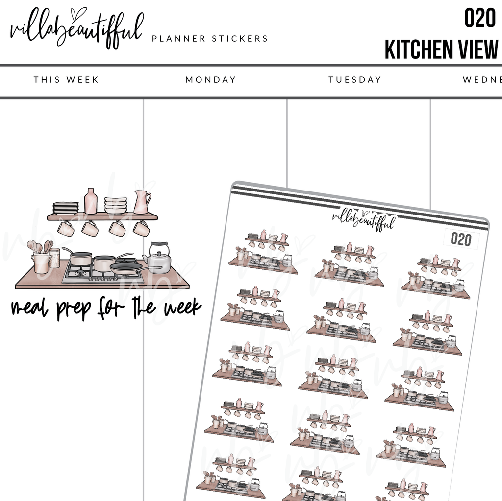 020 Kitchen View Planner Stickers