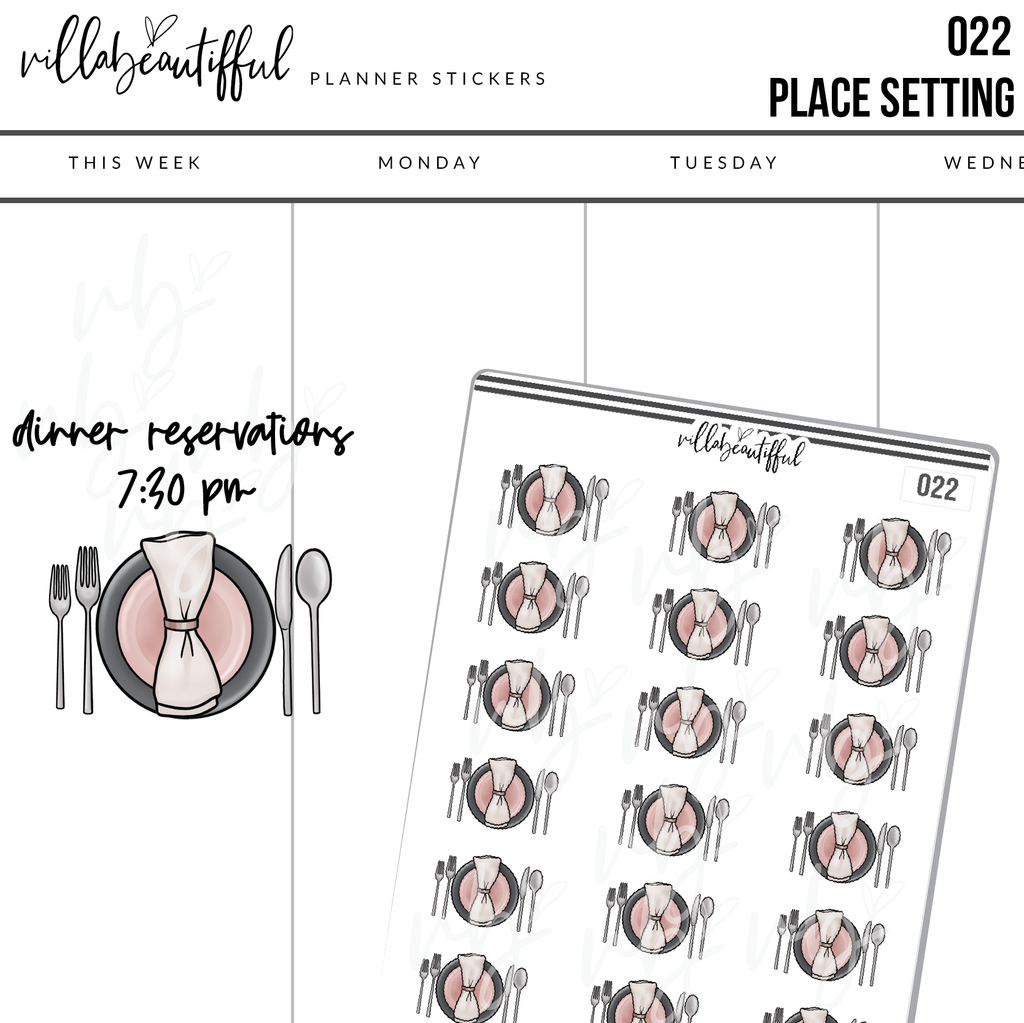 022 Place Setting Planner Stickers