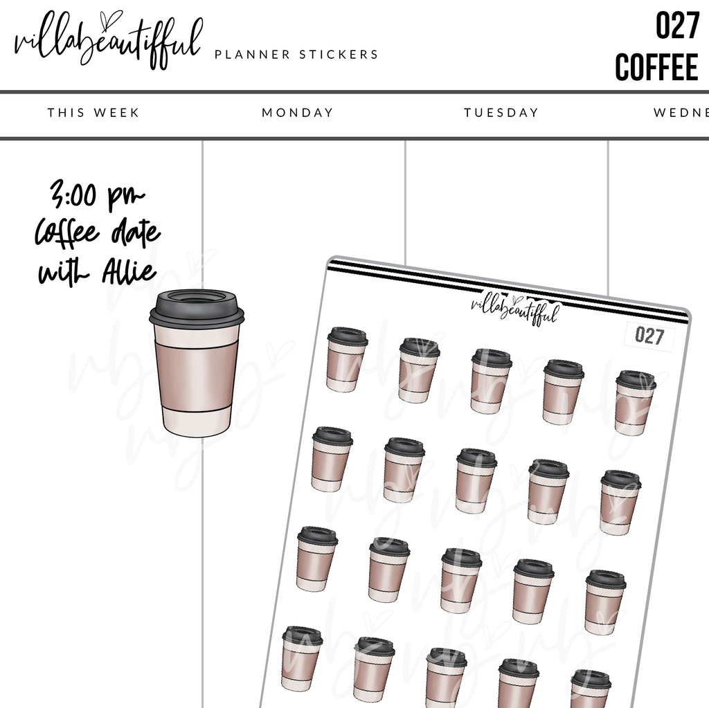 027 Coffee Planner Stickers