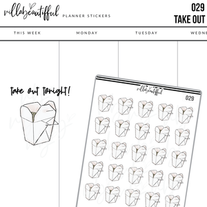 029 Takeout Planner Stickers