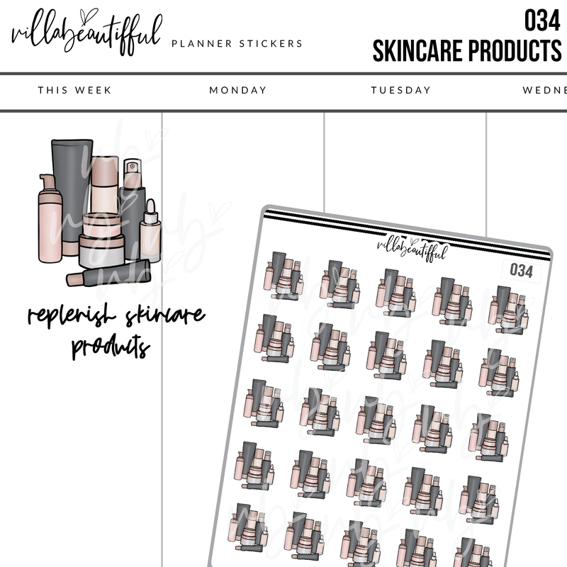 034 Skincare Sticker Sheet