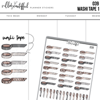 039 Washi Tape 1 Sticker Sheet