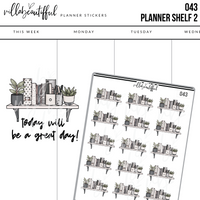 043 Planner Shelf 2 Sticker Sheet