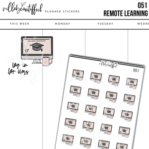 051 Remote Learning Sticker Sheet