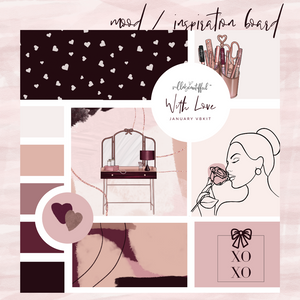 "Villabeautifful ""With Love"" Basic Kit + Paper"
