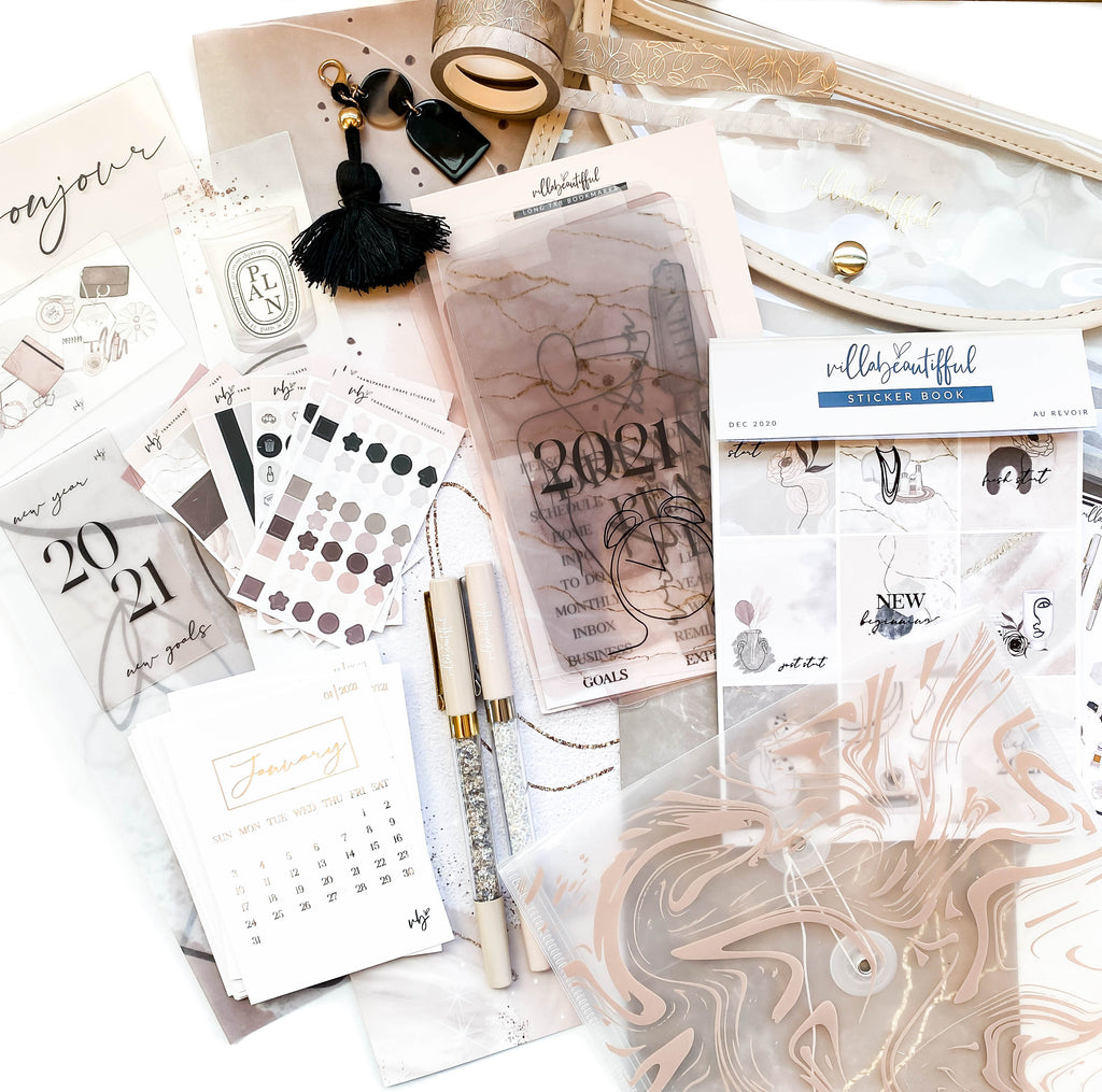 "Villabeautifful ""Au Revoir"" Basic Kit + Paper Pack"
