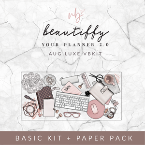 "Villabeautifful ""Beautiffy Your Planner 2.0"" Basic Kit + Paper Pack PREORDER"
