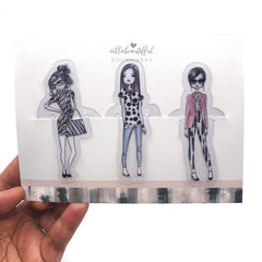 Simplicity Trendy Girl Bookmarks
