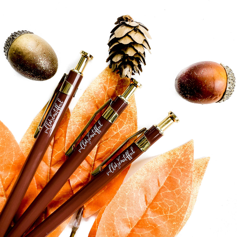 Autumn Lane Ballpoint Clicky Pen