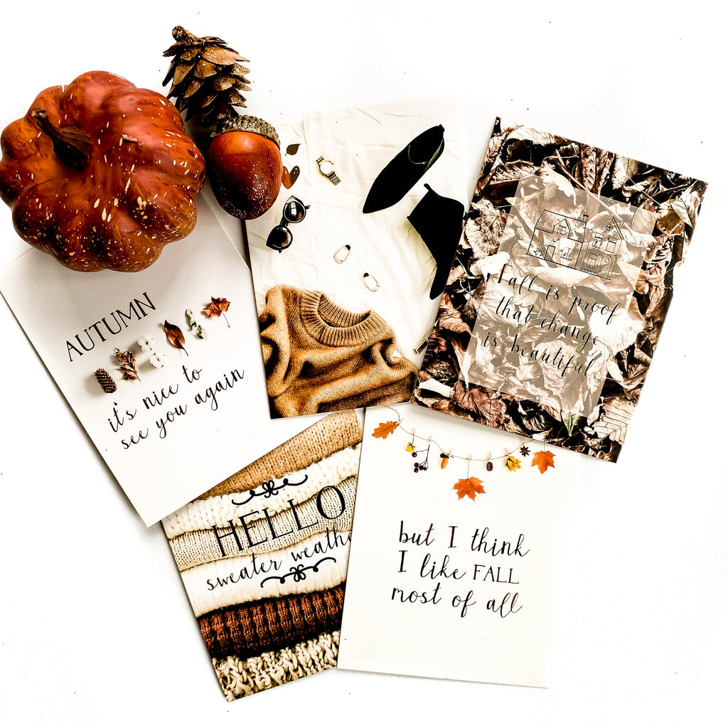 Autumn Lane Foiled Journal Cards