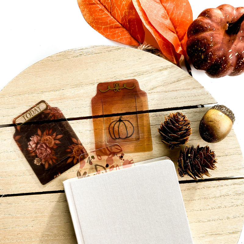 Autumn Lane Clear Tab Bookmarks