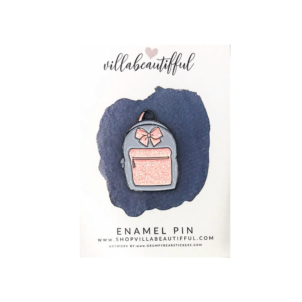 Peachy Backpack  Enamel Pin