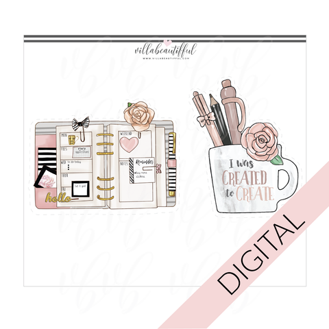 Beautiffy Your Planner Digital Diecuts Set 2