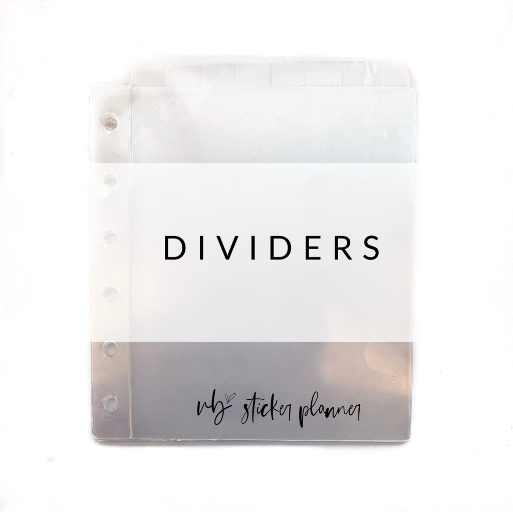 VB Sticker Planner Clear Dividers