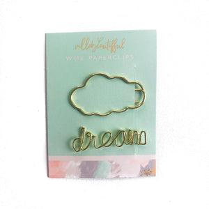 Dream Big Wire Paperclips