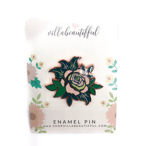 Flora and Fauna Flower  Enamel Pin