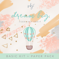 "Villabeautifful ""Dream Big"" Basic Kit + Paper Pack"