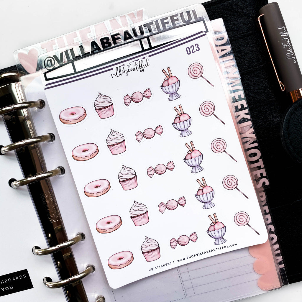 023 Sweet Treats Planner Stickers