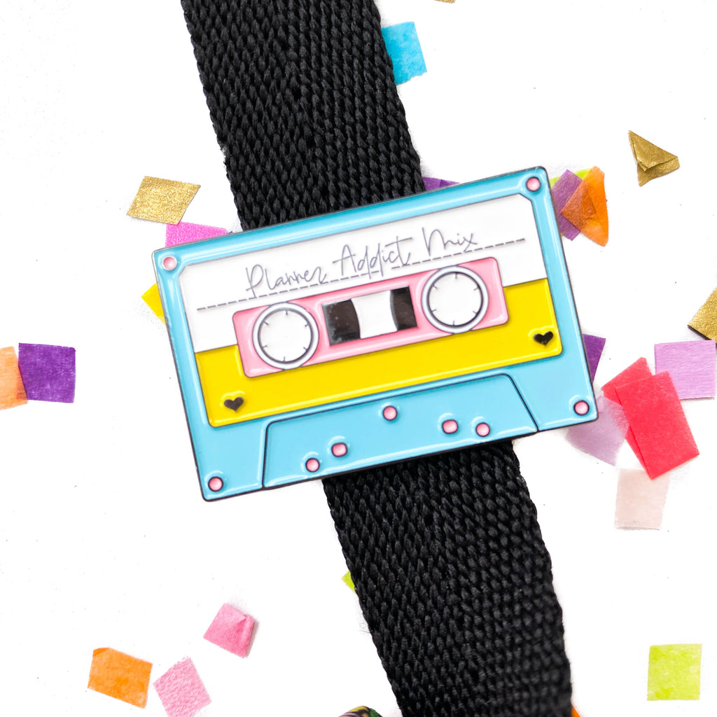 Good Times Planner Addict MixTape Enamel Pin