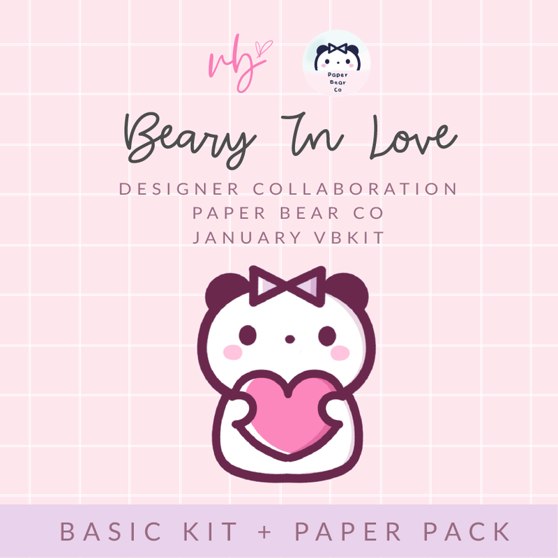 "Villabeautifful ""Beary In Love"" Basic Kit + Paper Pack PREORDER"