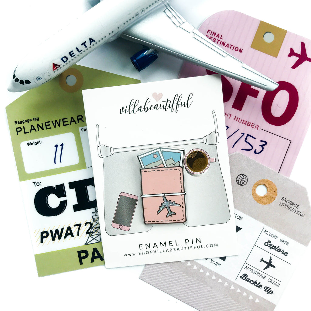 Traveler's Notebook Travel Enamel Pin