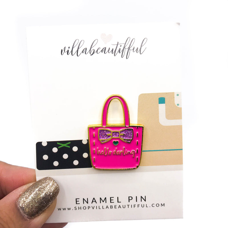 Hello Darling Purse Enamel Pin