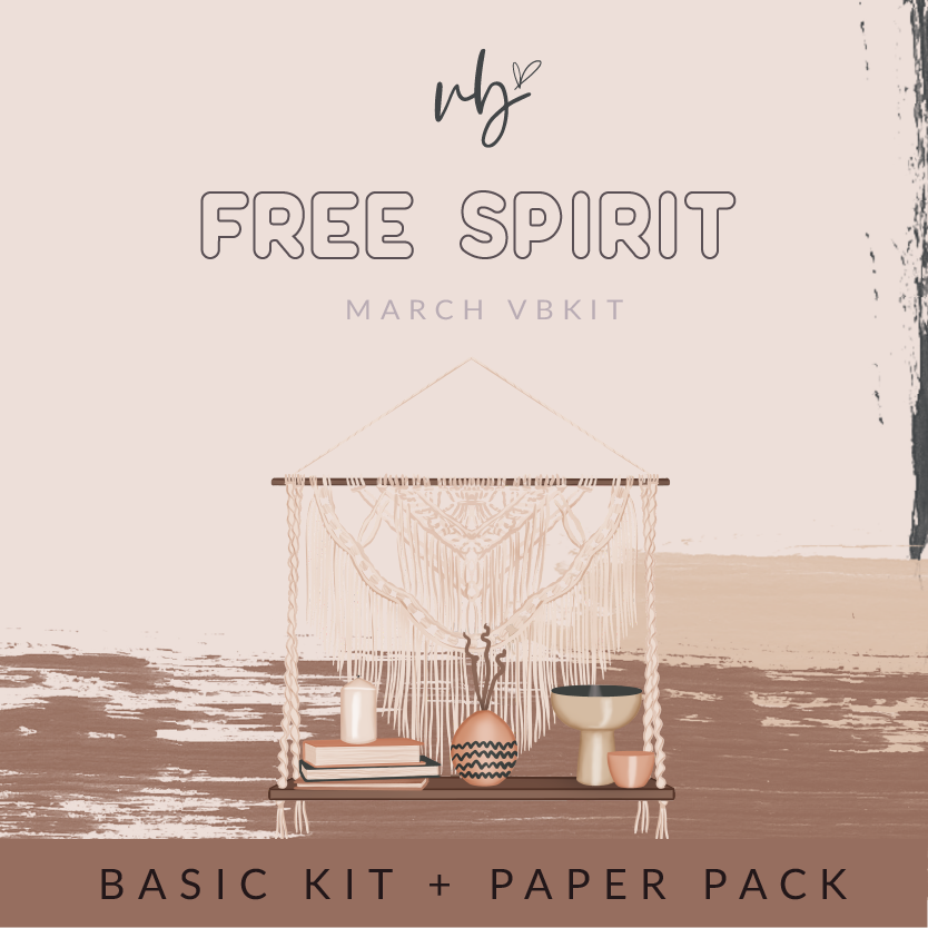 "Villabeautifful ""Free Spirit"" Basic Kit + Paper"