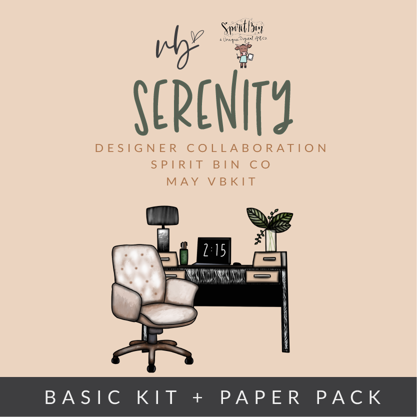 "Villabeautifful ""Serenity"" Basic Kit + Paper Pack"