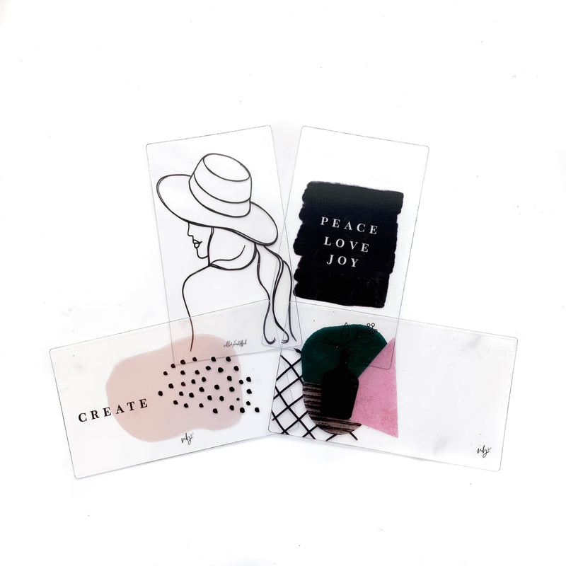 Merry Minimalist Transparent Mini Sticker Set + Cards