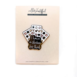 Planner and Stickers Magnetic Charm