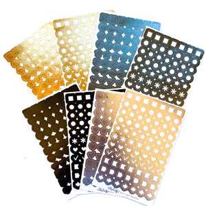 Foiled Basic Shape Washi Stickers
