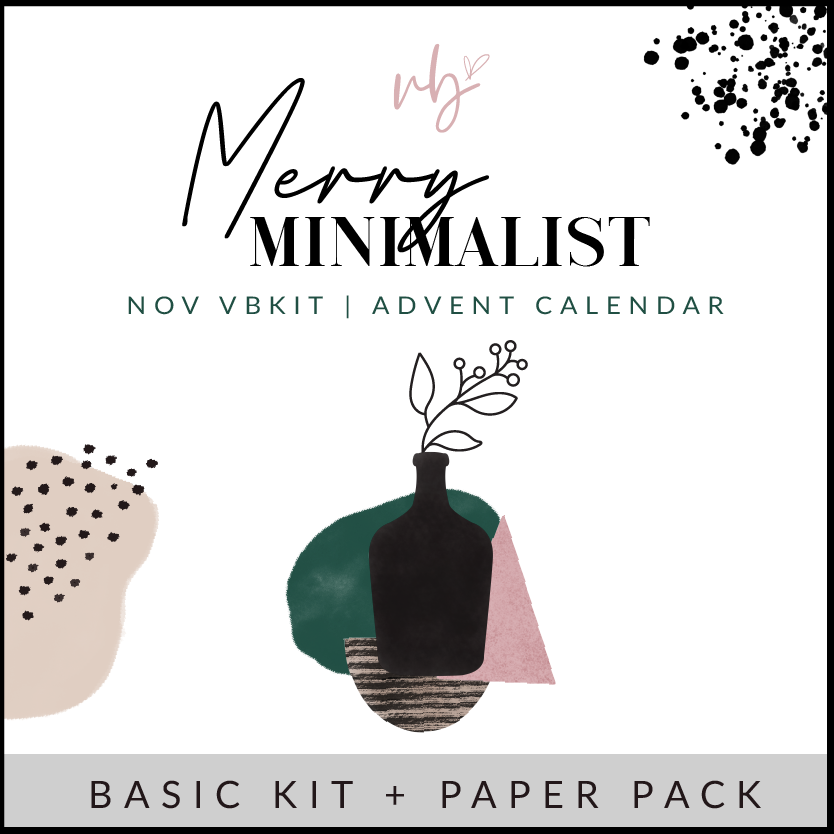 "Villabeautifful ""Merry Minimalist"" Advent Calendar Basic Kit + Paper Pack PREORDER"