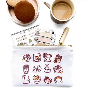 Cafe Papershire Zipper Pouch