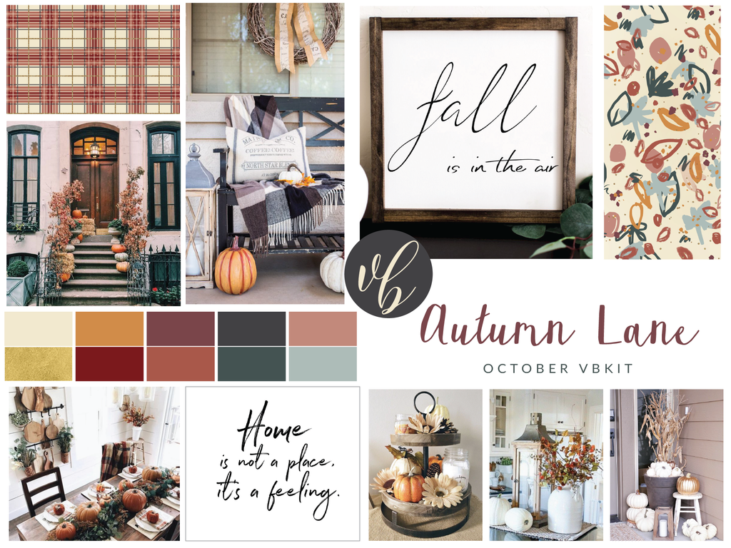 "Villabeautifful ""Autumn Lane"" Basic Kit + Paper Pack PREORDER"