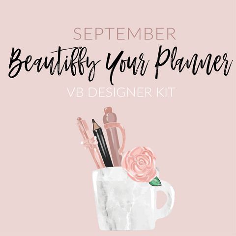 "Villabeautifful ""Beautiffy Your Planner"" Planner Kit"