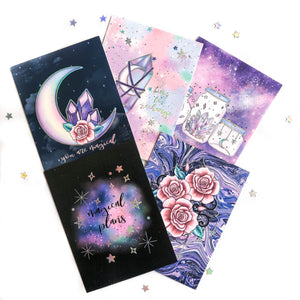 Magical Plans Foiled Journal Cards