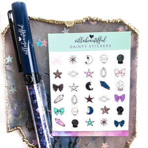 Magical Plans Dainty Stickers
