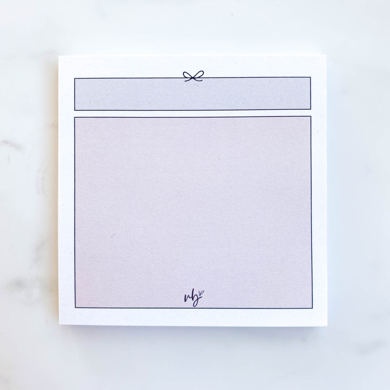 Simple Bow Sticky Note