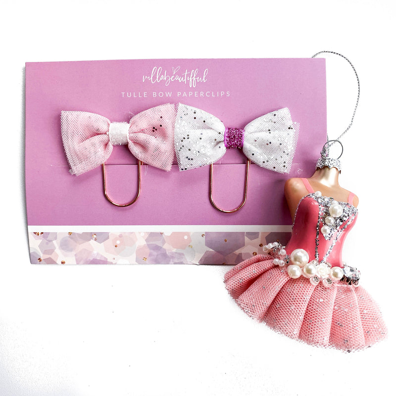Pretty Little Things Bow Tulle Paperclips
