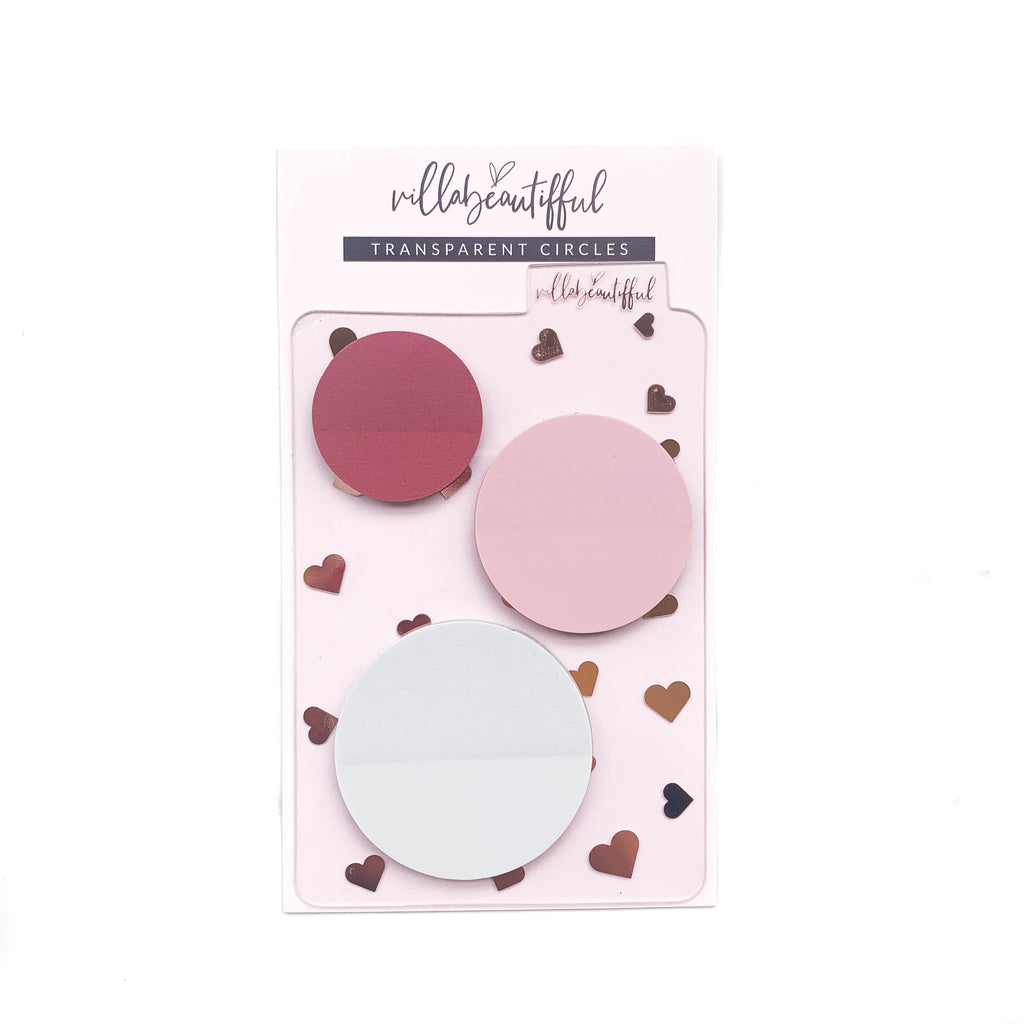 With Love Transparent Circle Page Flag Set
