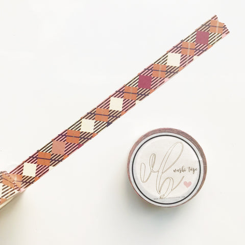 VB Fall Plaid Washi Tape