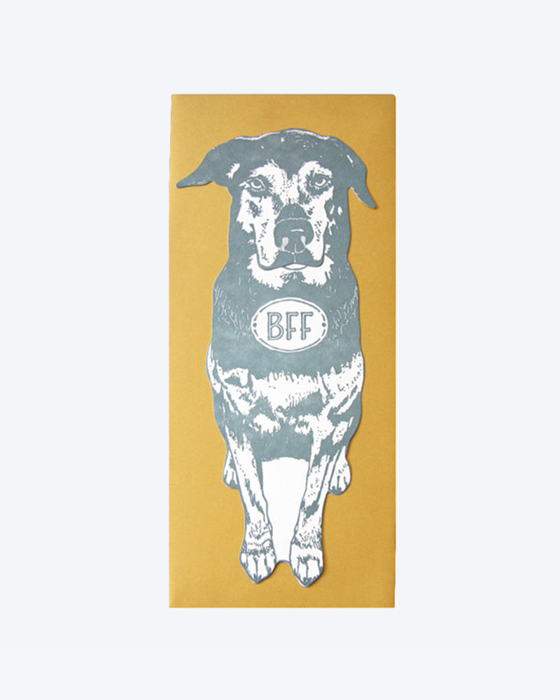 BFF Dog Card by Blackbird Letterpress gift present send money