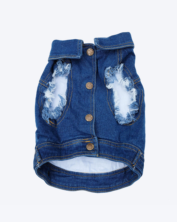 Denim Dog Vest by PetHaus