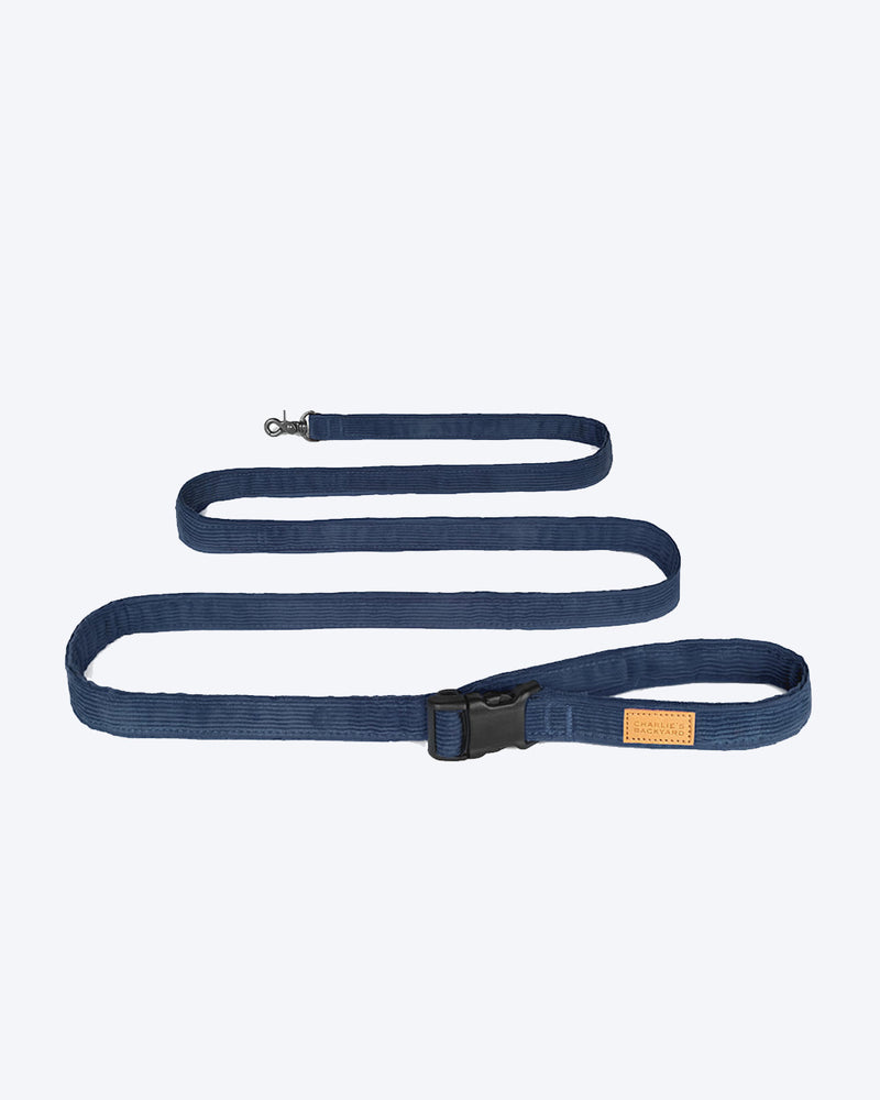 Blue/Navy dog leash by Charlie's Backyard