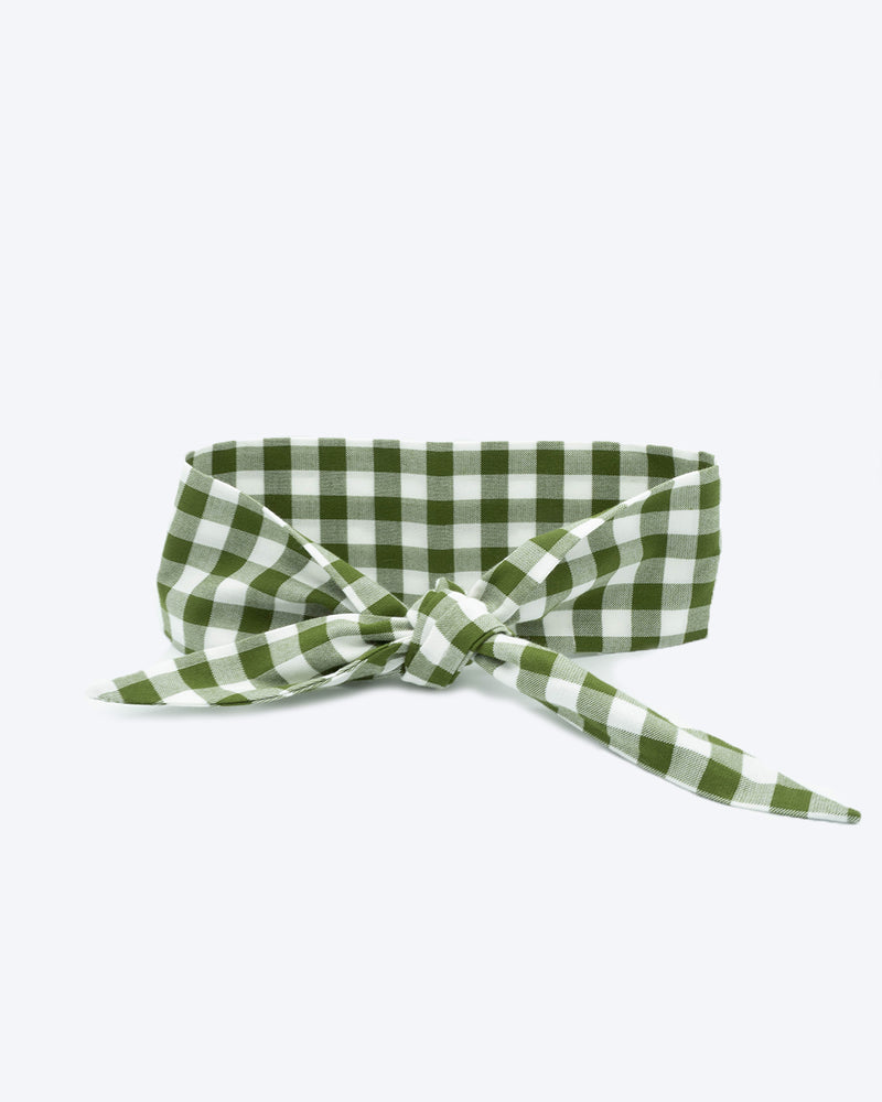 Forest Gingham #6d7b40