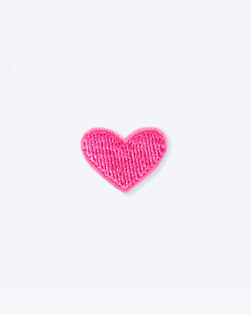 IRON ON HEART PATCH. SMALL PINK HEART. IRON ON PATCH FOR DOG AND CAT BANDANAS.