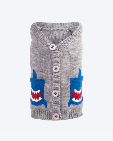 Shark Cardigan by Worthy Dog