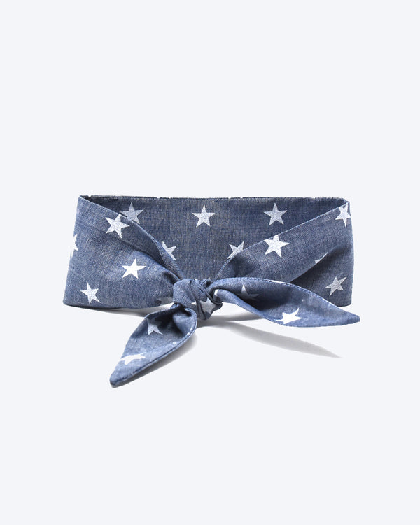 Dark blue floral necktie for dogs and cat. Like a rolled bandana but less fuss.