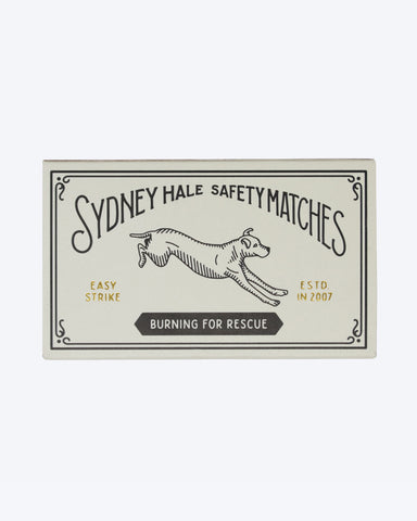 BURNING FOR RESCUE SAFETY MATCHES BY SYDNEY HALE Co.